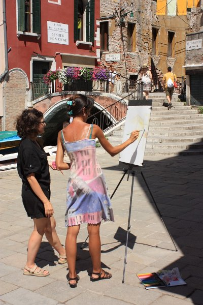 Drawing and painting lessons in Venice, Italy